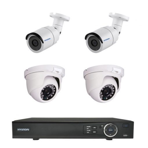 Kit CCTV de cuatro cámaras